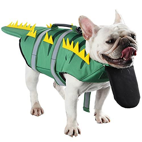 Etdane Schwimmweste für Hunde, Sicherheits-Schwimmweste für Haustiere, zum Schwimmen, Bootfahren,...