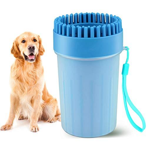 Beinhome Haustier Pfoten Reiniger, Hunde Pfotenreiniger Dog Paw Cleaner Tragbarer Hundepfoten Reiniger...