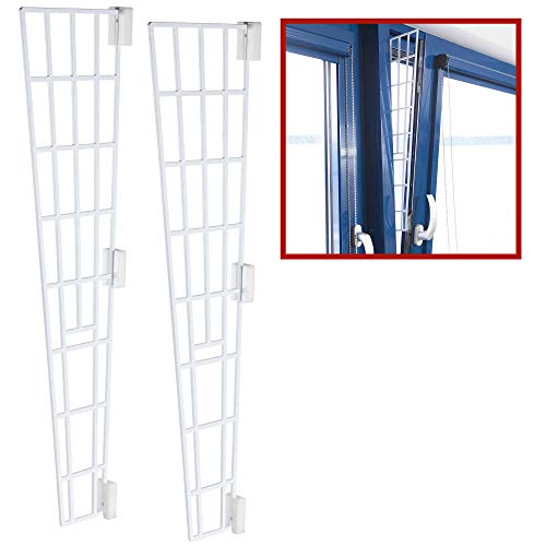 TRIXIE 2X Kippfenster-Schutzgitter, Kunststoff, Seitenteil, 62x16/7cm, weiß