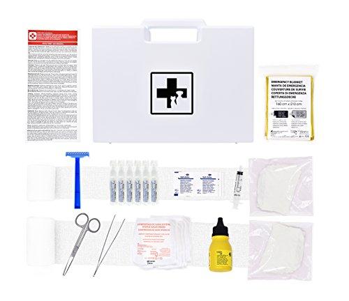Erste-Hilfe-Set für Haustiere (enthält ANTISEPTISCHE LÖSUNG, PHYSIOLOGISCHEN SERUM, RETTUNGSDECKE,...