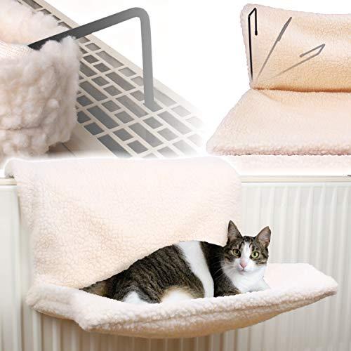 Stimo Katzenhängematte für die Heizung (passend für alle gängigen Heizkörper) / Katzen...