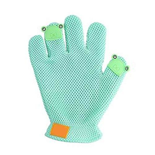 Sanfte Abstaubenbürstenhandschuhe Cat Grooming Handschuhe, Hundemassagebürste, linke und rechte Hand...