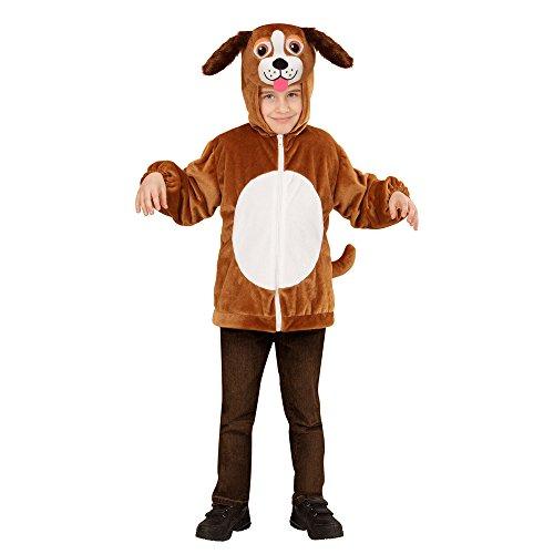 Widmann 97472 - Kinderkostüm Hund aus Plüsch, Jacke mit Kapuze und Maske