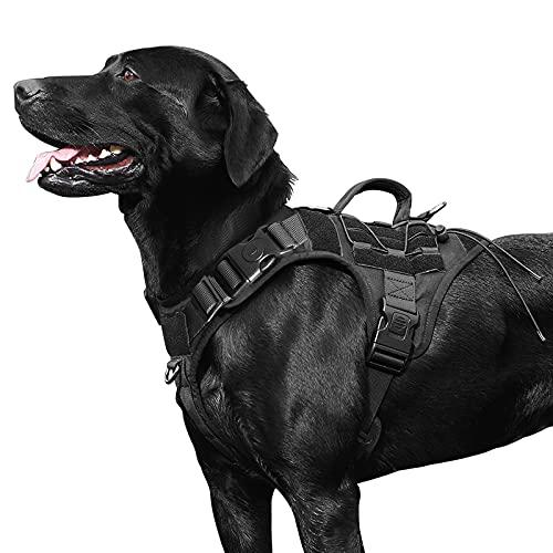 Variegata taktisches Hundegeschirr, taktische Hundeweste, Militär-Hundeweste mit Griff,...