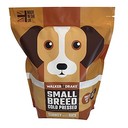 Walker & Drake Kleine Rassen Hundefutter – kaltgepresster Truthahn mit Reis – 1,5 kg Beutel – die...