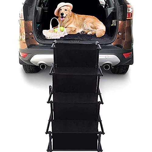 HXPainting Hunderampe Auto Klappbar Hundetreppe 4 Stufen Für Offroad-Trucks, Couch Und Hochbetten Trägt...