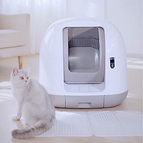Wlehome Automatische Katzentoilette, Großer Ultra Quiet intelligentes automatische Closed WC,...