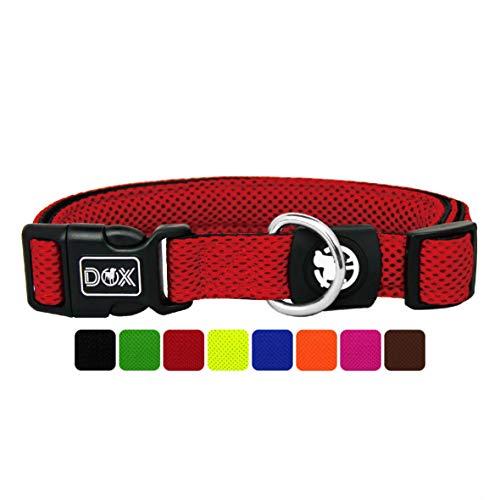 DDOXX Hundehalsband Air Mesh, verstellbar, gepolstert | viele Farben | für kleine & große Hunde |...