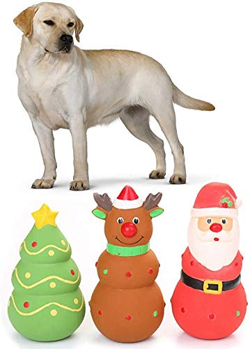 SongJX-Love Spielzeug Elegantstunning Latexweihnachtsmann/Elk/Weihnachtsbaum Form quietschendes Spielzeug...