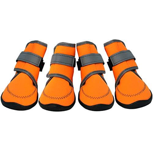 Dog Shoes Pfotenschutz Hundeschuhe Hundestiefel Haustier Schuhe Anti-Rutsch Atmungsaktiv für klein...