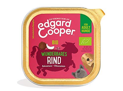 Edgard & Cooper natürliches Bio Hundenassfutter in Schalen - 17 x 100g - Rind - getreidefrei &...