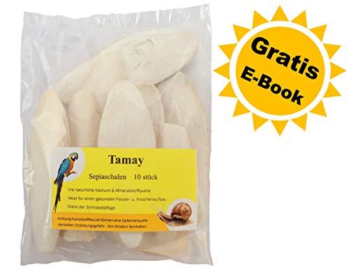 Tamay Sepiaschalen Premium I Optimale Kalzium u. Vitaminversorgung Nahrung, Futter für Reptilien,...