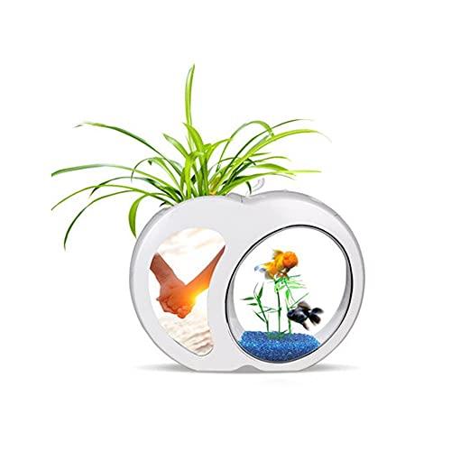 JJWC Ökologie Mini Nano-Fischtank Büro Aquarium Home Devoration Mini Aque Tank Integration Filter...