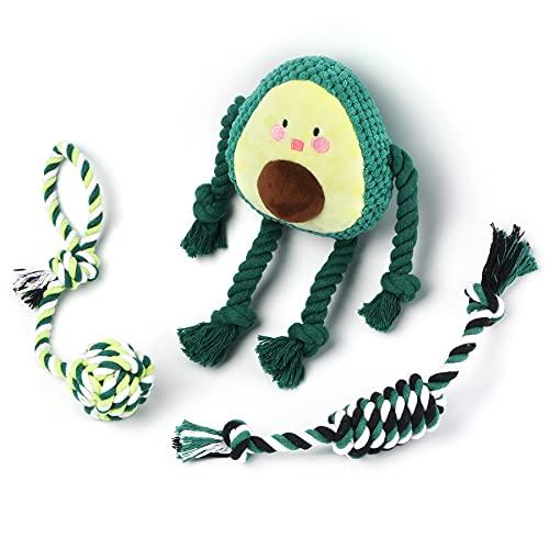 Toozey Welpenspielzeug Hundespielzeug Avocado - 3 Stk Hundespielzeug Unzerstörbar für Welpen & Kleine -...