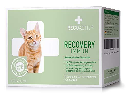 RECOACTIV® Recovery Immun für Katzen 3 x 90 ml - Hochkalorisches Diät Alleinfuttermittel, in der...