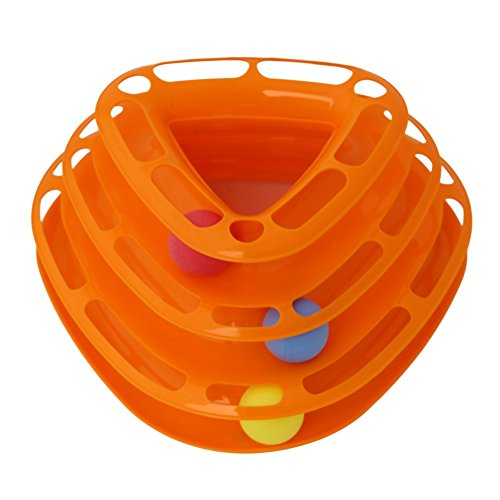 Patgoal Pet Drei Hebel Tower von Musikstücken Interaktive Spielzeuge Katze Pet Ball Toys Rummelplatz...