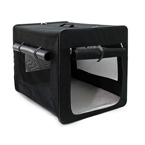Wiltec Faltbare Transportbox für Haustiere, Größe XXL (106x71x81 cm), mit herausnehmbarem...