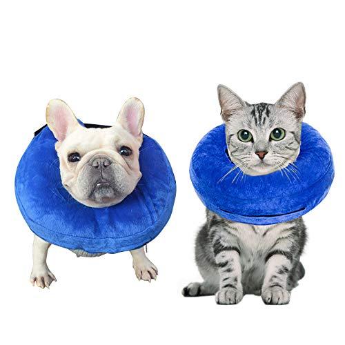 Demason Halskrause Hund Schützender Aufblasbarer Hundekragen Schutzkragen Krägen für Haustiere...