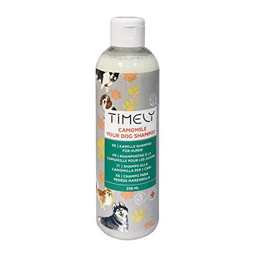 Timely Hundeshampoo mit Kamille für raues oder trockenes Fell, 250ml