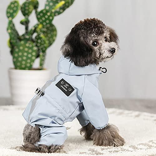 Idepet Hunde Regenjacke, Hund Wasserdichter Mantel mit Kapuze Haustier Leichte Regen Poncho mit...