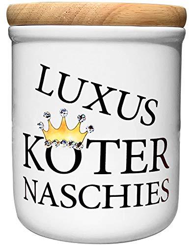 Cadouri Keramik Leckerli-Dose » Luxusköter Naschies « Deluxe Edition mit Glitzersteinchen┊Snackdose...