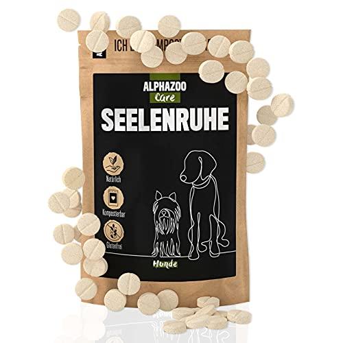 alphazoo seelenruhe 50 Tabletten | Beruhigungsmittel für Hunde mit Hanföl und Baldrian | gegen Stress...