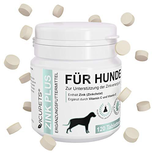Vicupets Zink Plus   Zink für Hunde   Vitamine für Hunde   Vitamintabeletten fürs Immunsystem gegen...