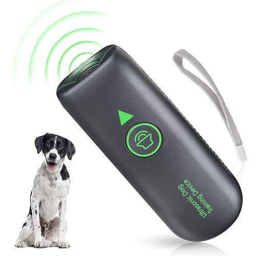 Antibell für Hunde, Ultraschall Hund Anti Bellgerät Wiederaufladbarer Bellenstopper, Wasserdichtes...