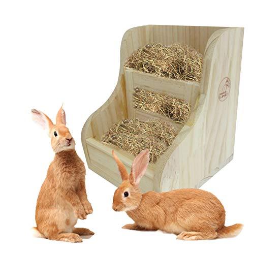 Aional 2 In 1 Kaninchen Raufe Futterautomat, Kaninchen Zubehör Meerschweinchen-futternapf, Gras Und...