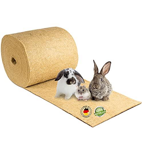 Nagerteppich aus 100% Hanf auf Rolle mit 25m Länge, 50cm Breite, 5mm dick, Hanfteppich für alle Arten...