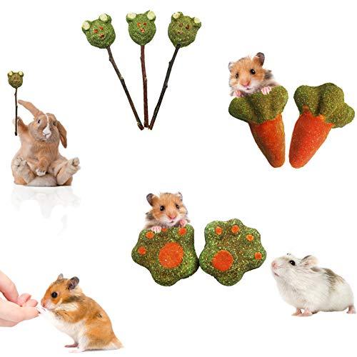 Kaninchen Beschaftigung Heu,Hamster-Kauspielzeug, Chinchilla, Meerschweinchen, Papageien und andere...