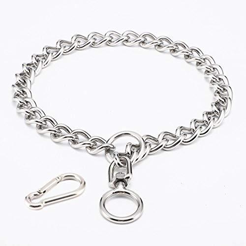 Haustier Rostfreier Stahl Bruttokette Hundehalsbänder P Kette Kragen Metall Halsbänder für das...