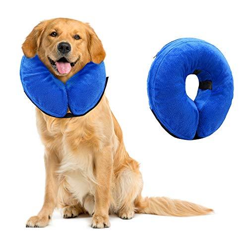 Aufblasbar Halsband für Haustier Hund Katze Schutzkragen für Haustiere Einstellbar Bequem Schutzkragen...