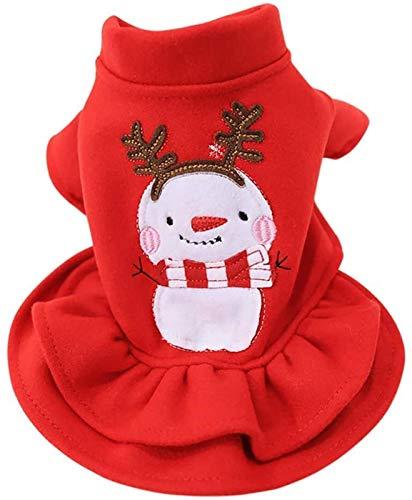 ccfgh Hunde-/Katzenpullover, Weihnachtspullover, warm, Herbst-/Wintermantel, Baumwolle, für den...