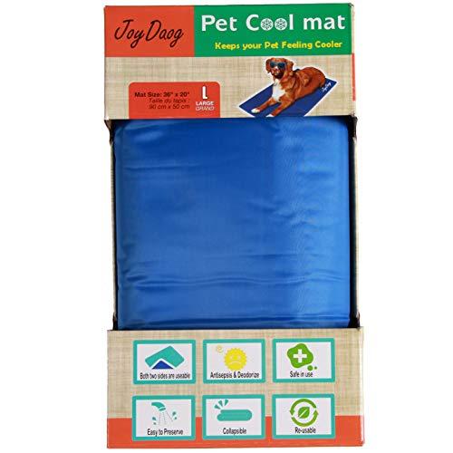 Hundekühlmatte für große Hunde Katzen Selbstkühlende Pads für Hundebetten von JoyDaog,L(90 * 50cm)