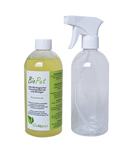Biolopur | Geruchsneutralisierer | Geruchsentferner | Spray | Reinigungsmittel Urin, Haustier etc. 500ml...