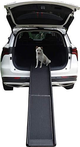 LLCTOOLS Hunderampe Hundetreppe Hundeautorampe Kofferraumrampe für Haustiere Hundeeinstiegshilfe Auto...