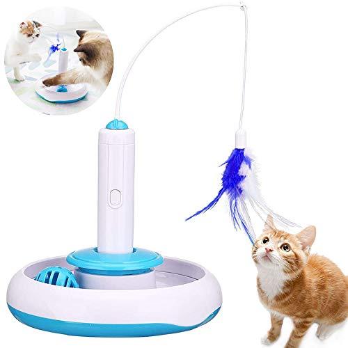 TaimeiMao Spielzeug Katze Intelligenzspielzeug Spiels Federspielzeug,360 ° drehbar,Interaktives...