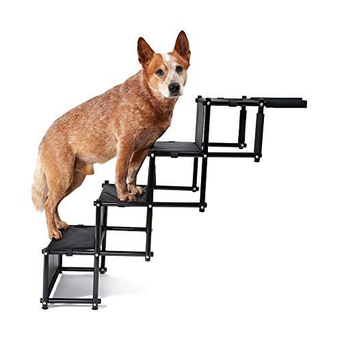 PiuPet® Universal Hundetreppe für große und kleine Hunde - bis 80 kg belastbar - für alle Fahrzeuge...