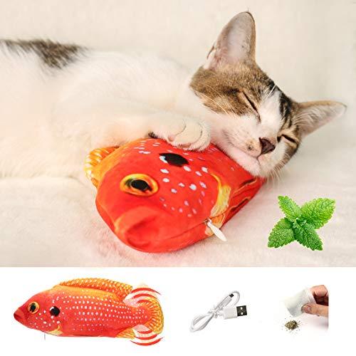 Fisch Katzenspielzeug Elektrisch Katzenminze Spielzeug Interaktives Spielzeug Für Katzen, Wackeln...