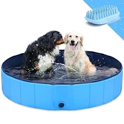 GoStock Hundepool Schwimmbecken Faltbarer Hund Planschbecken Swimmingpool Kinderpool Hundebadewanne Doggy...