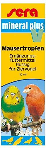 sera (9839) mineral plus V 50 ml - Mausertropfen bzw. Mauserhilfe für alle Ziervögel