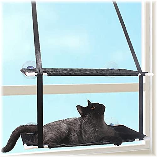 SCDS Doppellagige Katzen Fensterplatz, Katzenhängematte Für Große Katze in Innenräumen, Fenster...