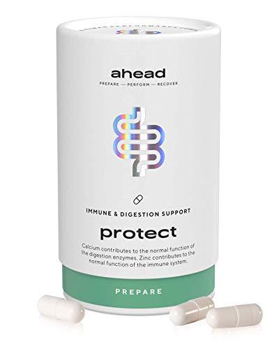 ahead PROTECT I Kulturen-Komplex mit 18 Darmbakterien + Inulin - 90 vegane & magensaftresistente Kapseln...