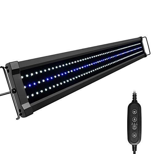 NICREW ClassicLED G2 Aquarium Beleuchtung, Steuerbar LED Lampe mit Mondlicht, IP67 Wasserdicht für...