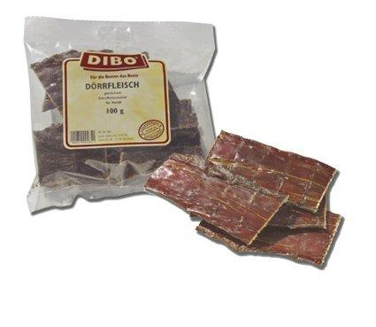 Dörrfleisch, 100g-Beutel, der kleine Naturkau-Snack oder Leckerli für Zwischendurch, Hundefutter,...