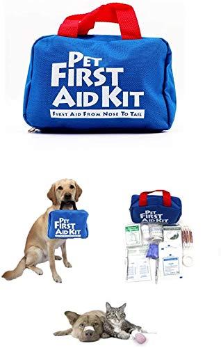 Erste-Hilfe-Set für Hunde und Katzen, 88-teiliges Notfall-Survival-Beutel für Haustiere, Tiere, perfekt...