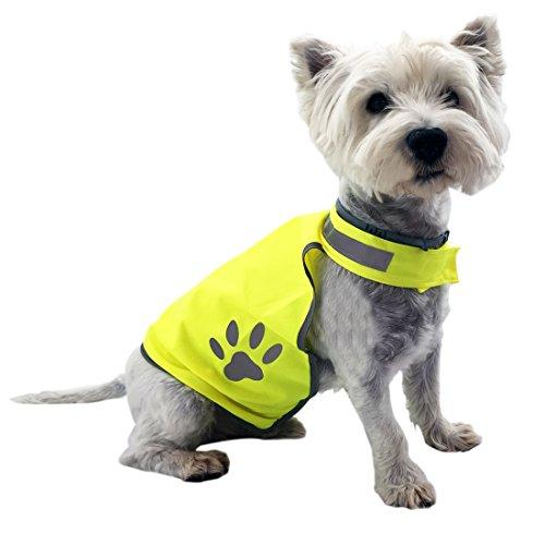LOESUNGLTD Hundeweste – Warnweste zum Schutz für kleine bis mittlere Hunde – Signalweste...
