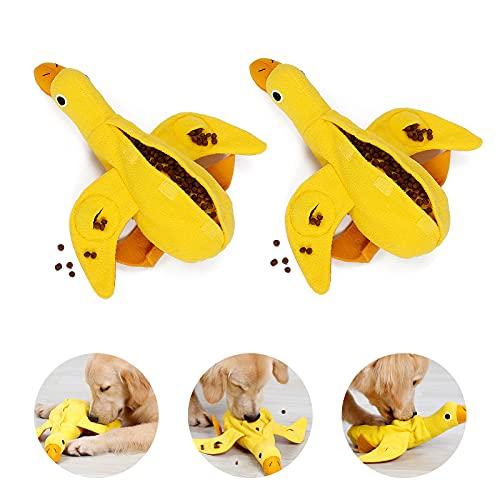 PEDOMUS Hundespielzeug Ente Hunde Spielzeug für Welpen kleine mittlere Hunde Haustiere Quietschspielzeug...