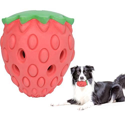 YHmall Hundespielzeug Kauspielzeug Hunde, Leckerlispender mit Erdbeergeschmack Spielzeug Hund kauen,...